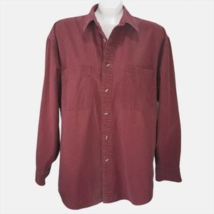 Eddie Bauer Burgundy Regular Button Down Shirt
